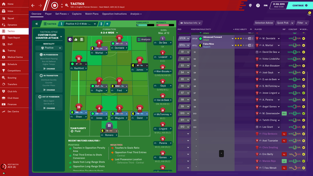 Football Manager 2020 -kuvakaappaus