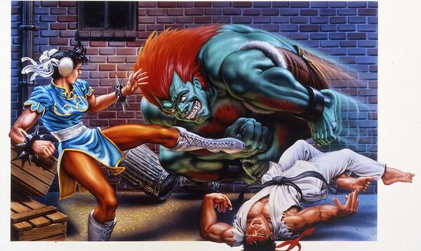 Mick McGinty, Street Fighter II, pelikuvitus, taide, pelitaide