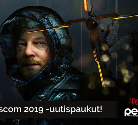 Uutiskimara, Gamescom 2019, Death Stranding, Comanche, Disintegrated, Humankind, Cyberpunk 2077, Google Stadia, Avengers, Insomniac Games