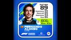 Fernando Alonso Kokemus: 99 Kisataidot: 89 Tietoisuus: 94 Kisanopeus: 86 Kokonaispisteet: 89