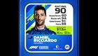 Daniel Ricciardo Kokemus: 80 Kisataidot: 94 Tietoisuus: 91 Kisanopeus: 88 Kokonaispisteet: 90