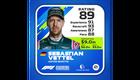 Sebastian Vettel Kokemus: 91 Kisataidot: 93 Tietoisuus: 87 Kisanopeus: 88 Kokonaispisteet: 89