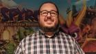 Spyro Reignited Trilogy -tuottaja Lou Studdert Gamescom 2018 -messuilla. Kuva: Ville Arvekari
