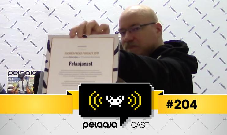 Pelaajacast 204 -video: Pelaajacast äänestettiin Suomen toiseksi parhaaksi podcastiksi