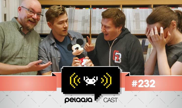 Pelaajacast 232: Miika Huttunen, Ville Arvekari, Panu Saarenoja ja Janne Pyykkönen.