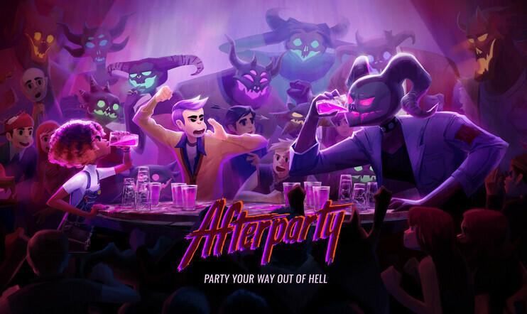 Afterparty, Night School Studio, seikkailu, Saatana, julkaisupäivä, 29. lokakuuta