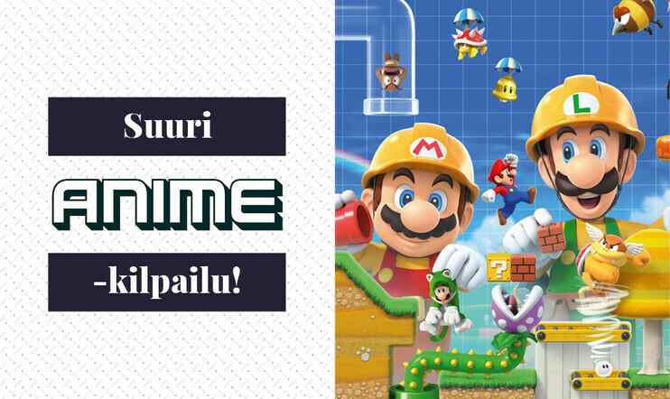 Anime-lehden kisa: Voita Nintendo Switch -konsoli, Super Mario Maker 2 -keräilyversio ja uudistuneen Anime-lehden tilaus!