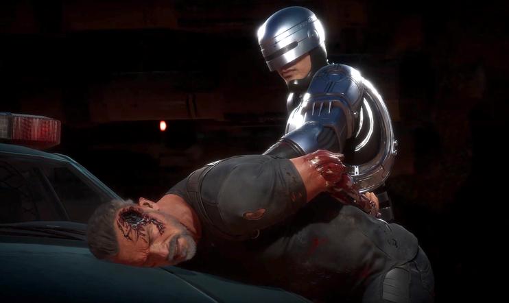 RoboCop, Terminaattori, Mortal Kombat, taistelu, Aftermath, Mortal Kombat 11