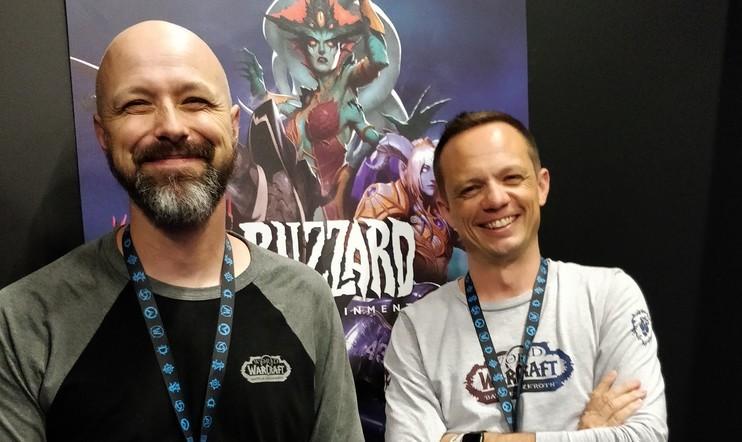 Blizzardin Ely Cannon ja Michael Bybee Gamescom 2018 -messuilla. Kuva: Ville Arvekari