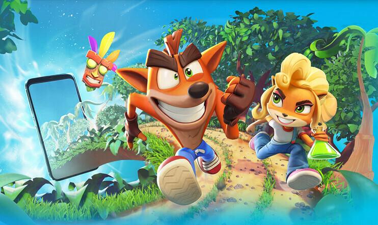 Crash Bandicoot Mobile, Crash Bandicoot, tasoloikka, mobiili, King, activision