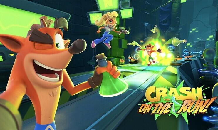 Crash Bandicoot: On the Run, Crash Bandicoot, On the Run, mobiili