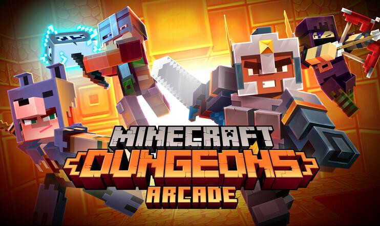 Minecraft, Minecraft Dungeons Arcade, Mojang, Play Mechanix, kolikkopeli