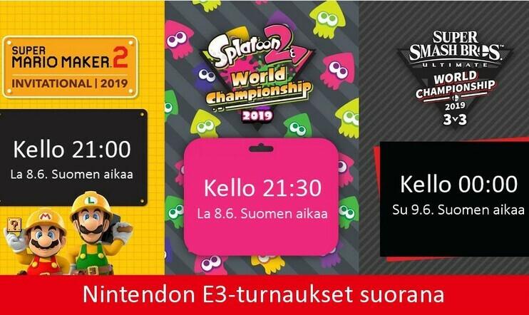 Suora E3 2019 -lähetys: Nintendo E3-maailmanmestaruusturnaukset – Splatoon 2 ja Super Smash Bros. Ultimate