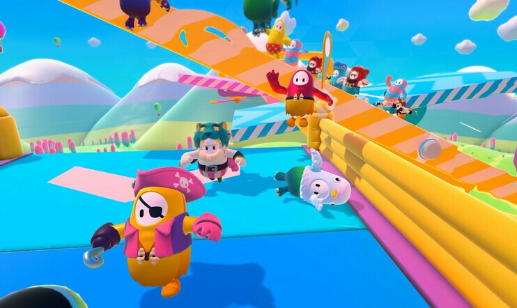 Värikäs Fall Guys kipusi Steamin pelatuimpien pelien kärkijoukkoon.