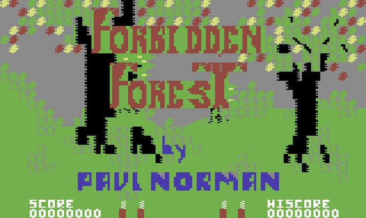 Retrostelussa Forbidden Forest (C64)