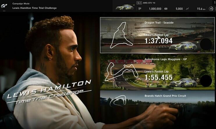 Lewis Hamilton, Gran Turismo, Gran Turismo Sport, Lewis Hamilton Time Trial Challenge