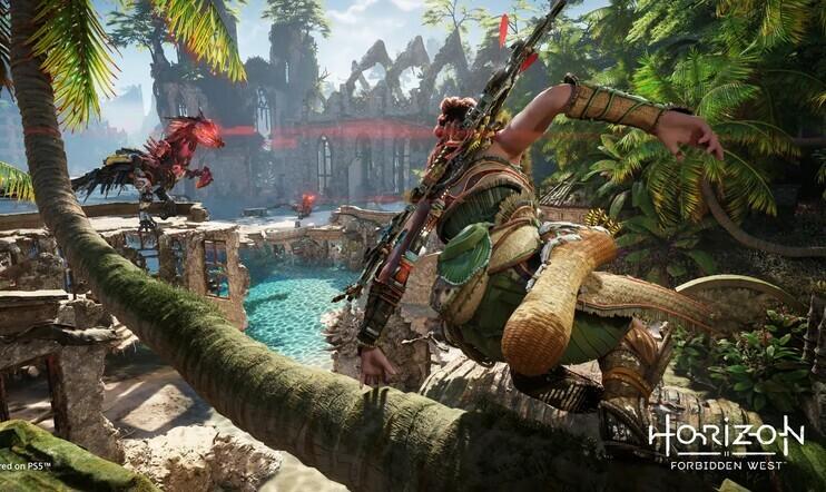 Horizon Forbidden West siirtyi ensi vuodelle –  ensimmäisen Horizonin PS5-suorituskykypäivitys nyt ladattavissa