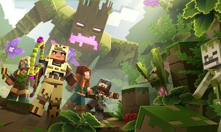 Minecraft Dungeons, Minecraft, Jungle Awakens, Mojang, Microsoft,