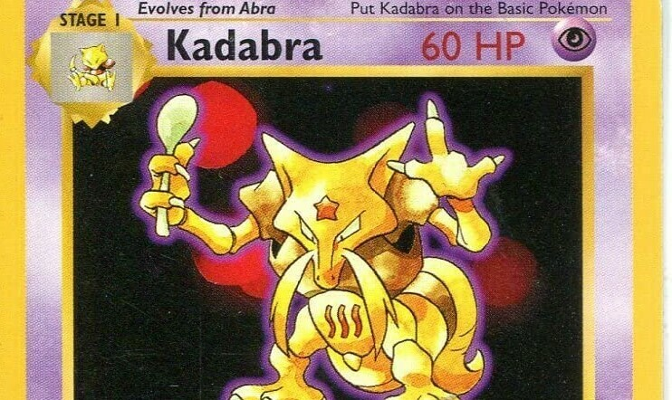 Kadabra, Uri Geller, Pokémon, nintendo, Pokémon-kortti