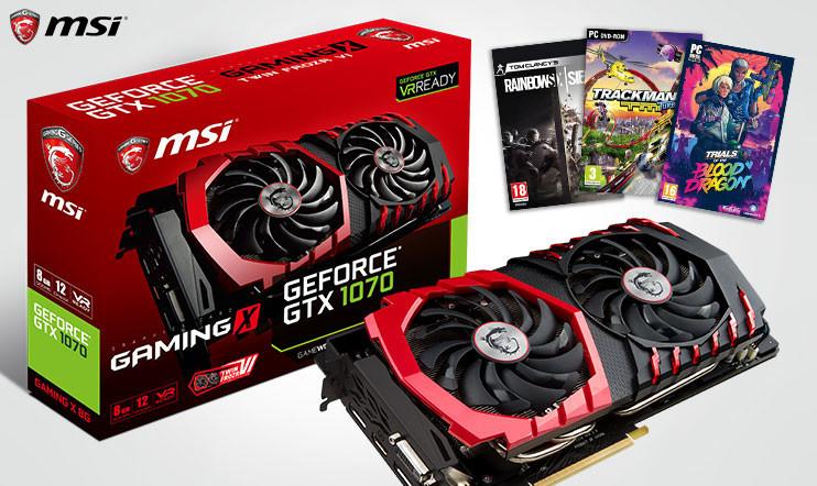 Syyskuun MSI GeForce GTX 1070 GAMING X 8G -kilpailu
