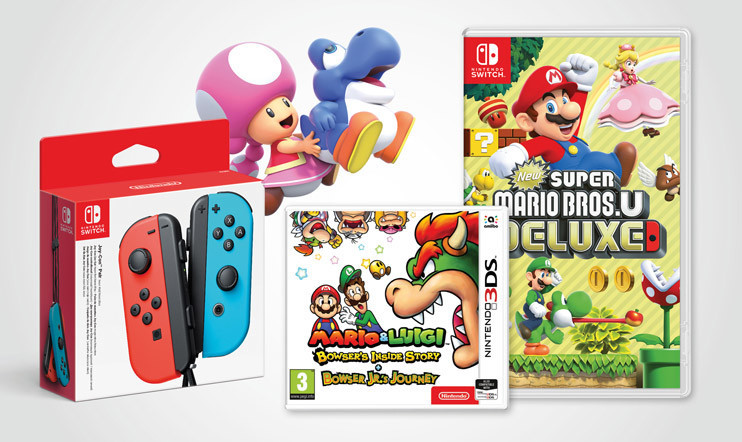 New Super Mario Bros. U Deluxe, Mario & Luigi: Bowser's Inside Story + Bowser Jr.'s Journey