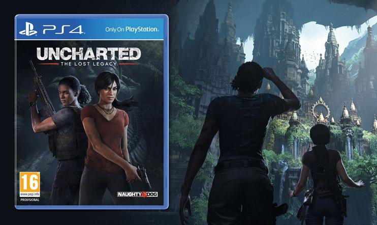KISA: Palkintona Uncharted: The Lost Legacy -peli sekä -tavaraa!