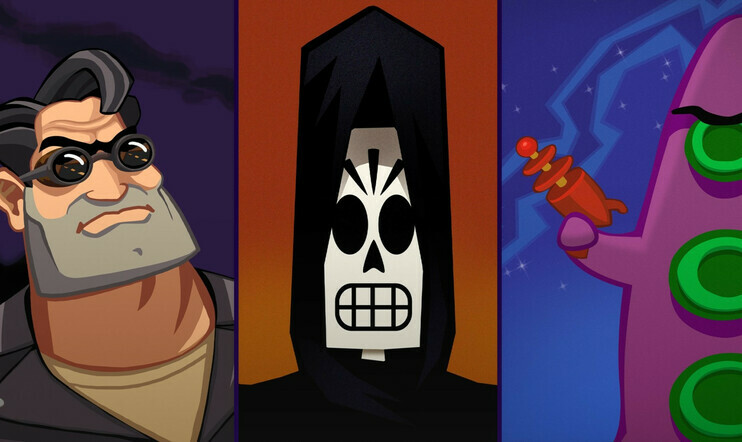 Grim Fandango, Day of the Tentacle, Full Throttle, Double Fine, Lucasarts, game Pass, Xbox, Microsoft