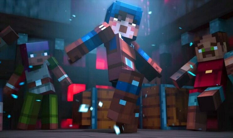 Minecraft Dungeons, Mojang, Double Eleven, Minecraft
