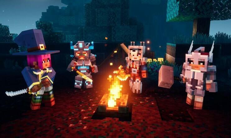 Minecraft Dungeons, Mojang, Steam