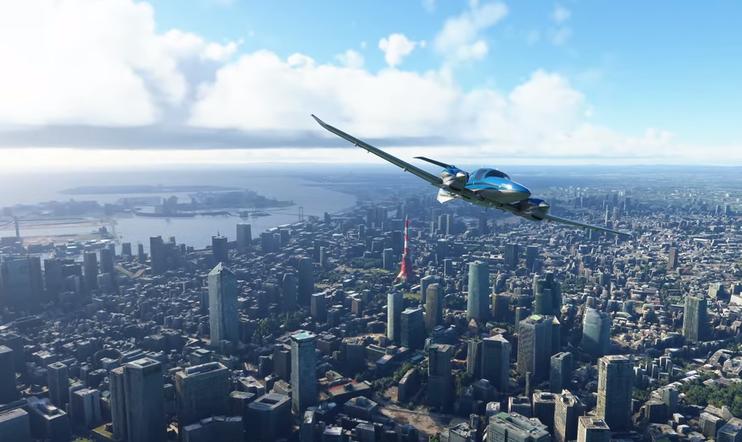 Microsoft Flight Simulator, japani, päivitys