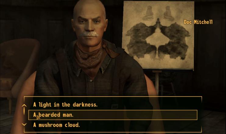 Tiesitkö? Pelaajat näkivät Falloutin musteläiskätestissä jotain odottamatonta