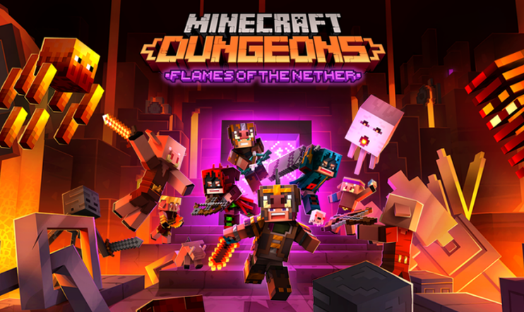 Minecraft Dungeons, Mojang, Minecraft, Flames of the Nether,