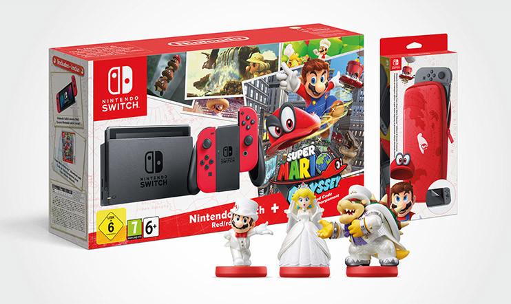Super Mario Odyssey -kisa: Voita Nintendo Switch -konsolipaketti, kantolaukku ja amiiboja!