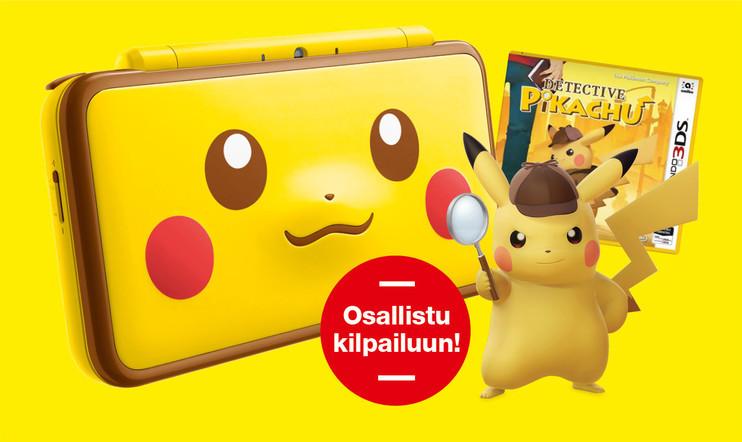 Helmikuun kisa: VOITA New Nintendo 2D XL Pikachu Edition + Detective Pikachu -peli!