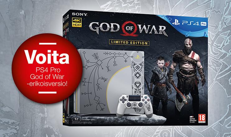 Huhtikuun kisa: VOITA PlayStation 4 Pro -konsolin God of War -erikoisversio!