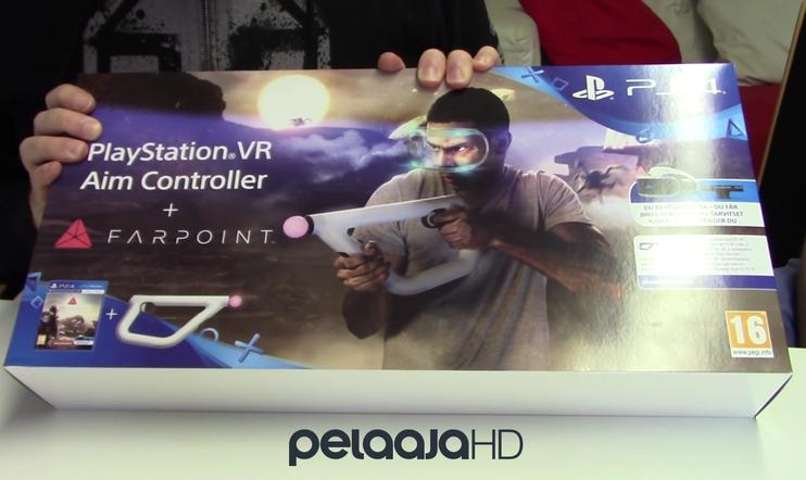 Avataan laatikko: PlayStation VR Aim Controller + Farpoint