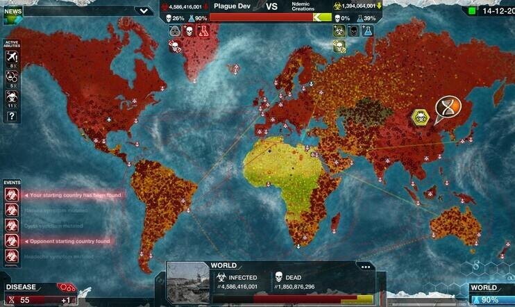 Plague Inc., Ndemic Creations, tauti, virus, pandemia