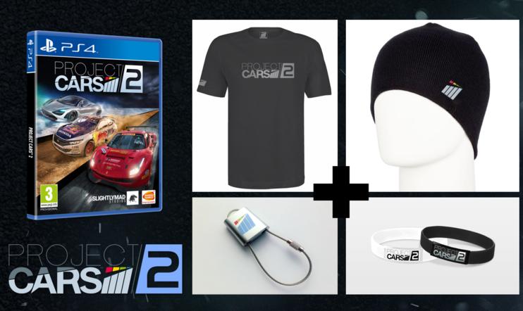 KISA: Palkintona Project CARS 2 ja peliaiheista tavaraa!