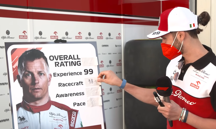 Kimi Räikkönen, Formula, Formula 1, F1, F1 2021, ajopeli, Codemasters, EA, pisteytys, Rating,