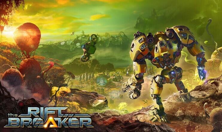 The Riftbreaker, factorio, rakentelu, selviytyminen, survival.
