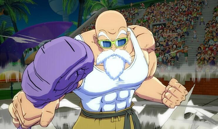 Master Roshi, Roshi, Dragon Ball. Dragon Ball Z, Dragon Ball FighterZ, julkaisupäivä, Bandai Namco, DLC, taistelu,