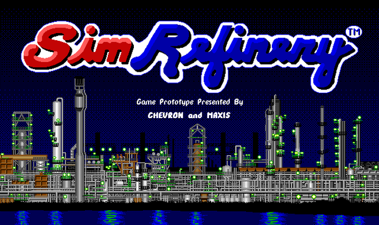 SimRefinery, SimCity, Maxis, Internet Archive, Phil Salvador, The Obscuritory, Ars Technica