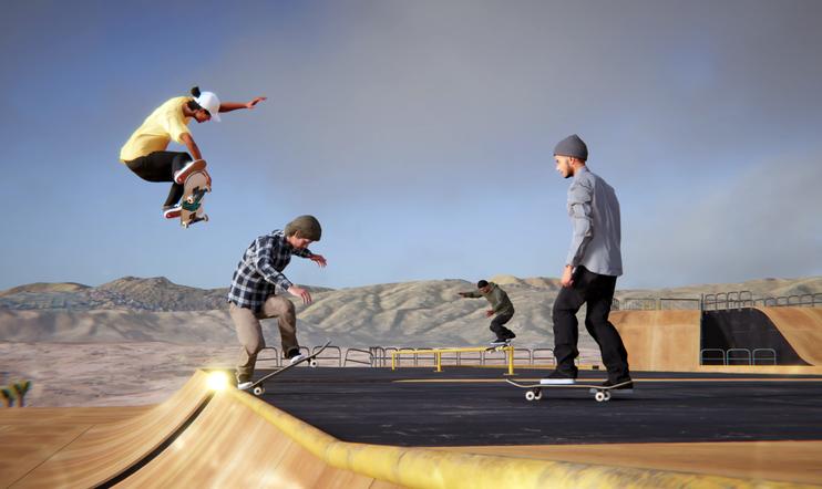 Skater XL, multiplayer, moninpeli, skeittaus, rullalautailu,