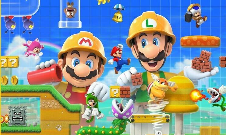 Super Mario Bros 1-1 flipped, Super Mario Maker 2