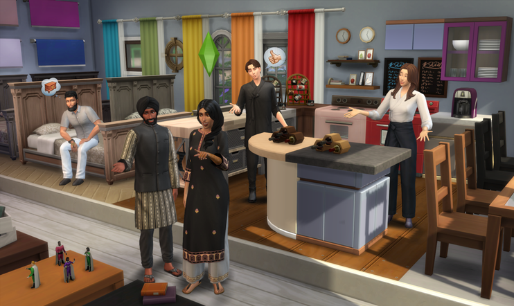 The Sims 4, The Sims, EA, Maxis, swatch, värimalli