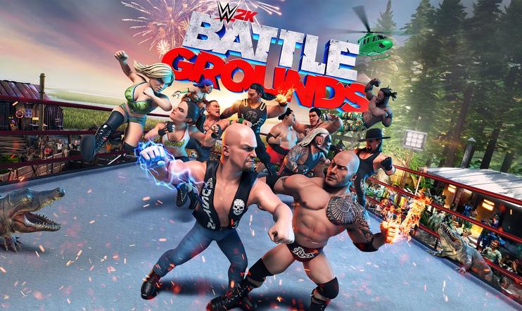 WWE, WWE 2K, WWE 2K Battlegrounds, Saber Interactive, showpaini, paini, julkaisupäivä