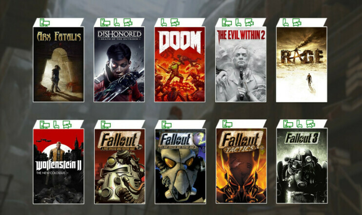 Fallout, Fallout Tactics, Bethesda, Xbox Game Pass, Microsoft, Arx Fatalis, Dishonored: Death of the Outsider