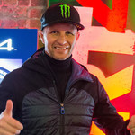 Petter Solberg tulevan DiRT 4 -pelin julkistustilaisuudessa. Kuva: Aake Kinnunen